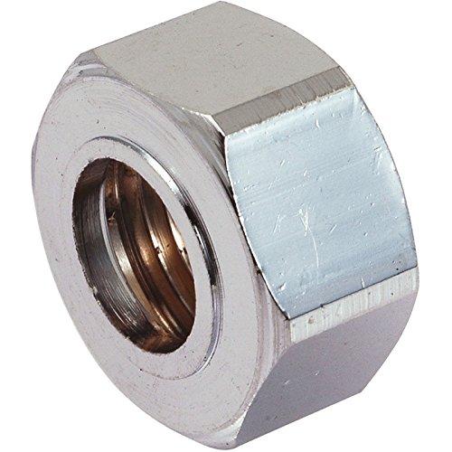 Écrou laiton chromé hexagonal à visser - F 1/2 - Ø 14 mm - Comap
