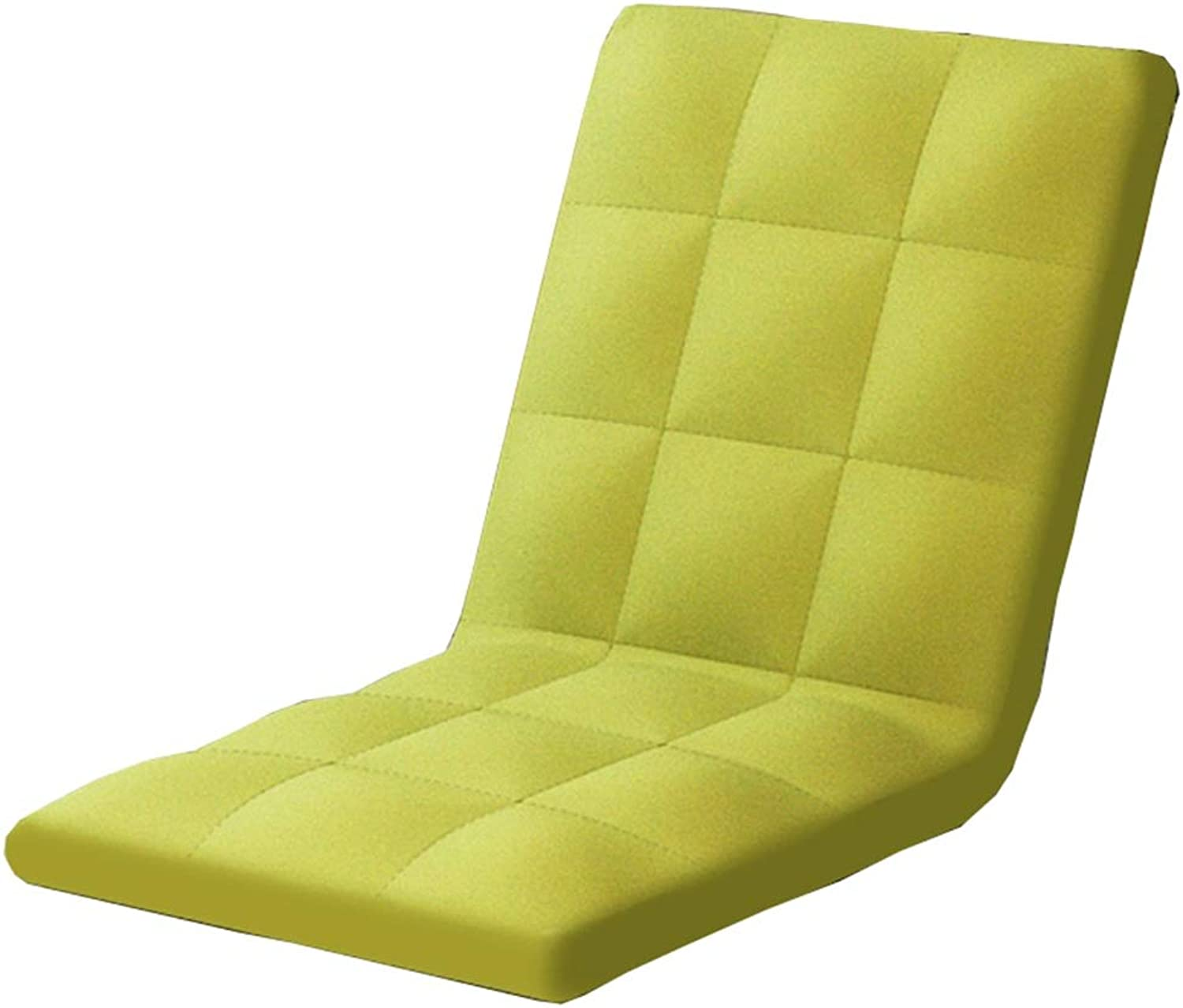 LJFYXZ Floor Folding Gaming Sofa Chair Single Foldable Cushion 5-Speed Adjustment Washable Dorm Room Armchair (color   Green)