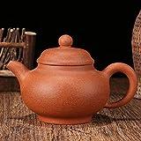 JIANGNANCHUN Tetera Kung Fu Set de té hecho a mano lodo caída pendiente Barro morado