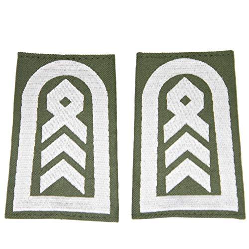 baum-m gmbh Rangschlaufen für Schulterklappen für die Deutsche Bundeswehr Heer oliv mit weißem Stick Oberstabsfeldwebel