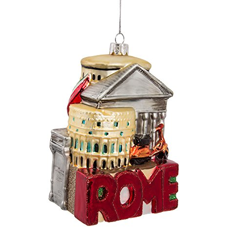 Kurt Adler 5-Inch Glass Rome Cityscape Ornament