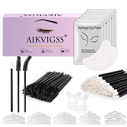 Aikvigss - Kit de levantamiento de pestañas, kit de permanente de pestañas, herramientas de asistente de onda de permanente rizadora semipermanente profesional, adecuado para salón
