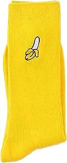 WEKA Autumn Winter Women Girl Cute Cartoo Casual Fruit Embroidered Socks Cotton Breathable Long Comfortable Socks