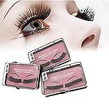 4 PCs 1 Pairs Magnetic Eyelashes-False Dual Magnetic Eyelashes- 0.2mm Ultra Thin Magnet- Lightweight & Easy to Wear-Best 3D Reusable Eyelashes- Premium Quality (MG03)