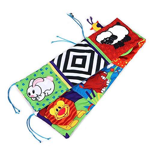 Libro de Cortoon para bebé, colgante de cama de bebé con diseño de animal de fibra de poliéster, portátil esponjoso con todas las funciones para cochecito de bebé regalo cama de bebé vida