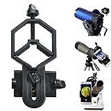 SOLOMARK ユニバーサル携帯電話のアダプタマウントは - iPhoneのソニーサムスンモト用など - - 両眼単眼スポッティングスコープ望遠鏡と顕微鏡との互換性の世界の自然を記録します フィット接眼レンズ径32mm-62mm