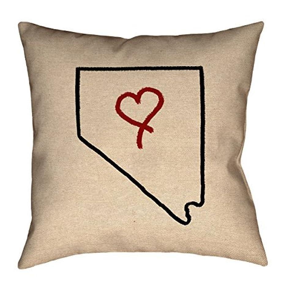 大理石ソフィー民族主義ArtVerse Katelyn Smith Nevada Love 20 x 20 Pillow-Spun Polyester [並行輸入品]