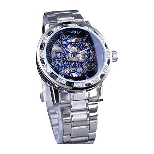 Senoly Herren Geschäfts Armbanduhr Analog Display Quarz Diamant Uhren Mit Stilvolle Metallarmband gewölbtem Glas Uhr Kreative Gedrucktes Muster Design Uhr Bauhaus-Stil Watch