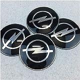4 piezas Cubiertas de Cubo de Rueda para Opel Astra Opel Astra H Astra G Insignia Opel Mokka, Prueba De Polvo Tapas centrales para llantas con el Logotipo De Insignia Automóvil Accesorios,65mm