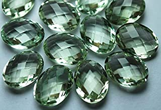 Jewel Beads Natural Beautiful jewellery 2 Match Pair,Super Rare AAA Green Amethyst Faceted Oval Shape Calibrated Size 10x14mmCode:- JBB-29636