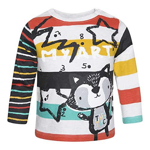 Tuc Tuc Chalk Painting Boy Camiseta de Manga Larga, Negro (Negro 30), 68 (Tamaño del Fabricante:6M) para Bebés