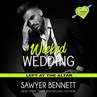 Wicked Wedding     Left at the Altar, Book 4              By:                                                                                                                                 Sawyer Bennett                               Narrated by:                                                                                                                                 Lance Greenfield,                                                                                        Kirsten Leigh                      Length: 6 hrs and 9 mins     65 ratings     Overall 4.4