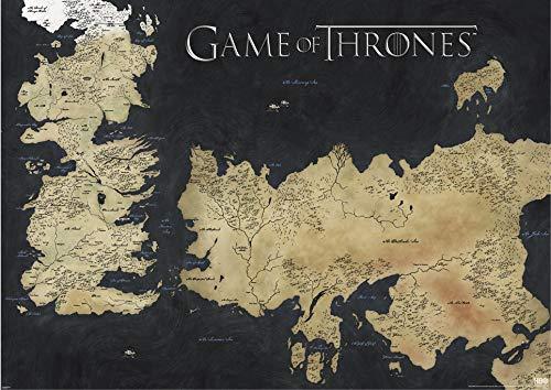 Game of Thrones (Map of Westeros & Essos) 100 x 140 cm Poster Géante
