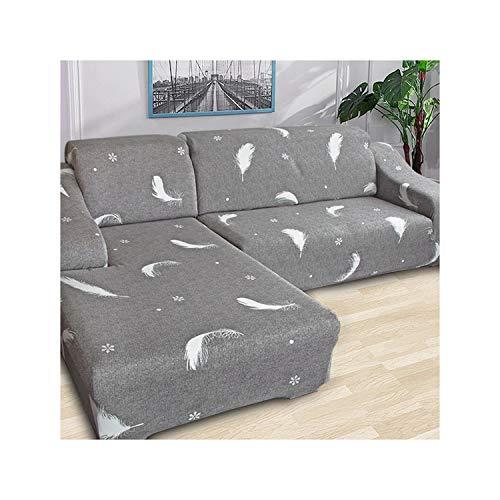 HGblossom L-Form (Kaufen Sie 2 Stück) Ecksofa-Bezug elastisch für das Wohnzimmer Bedruckter Bezug für Sofa-Schonbezüge Stretch 1/2/3/4 Sitz Farbe 7 Einzelsitz 90-140 cm