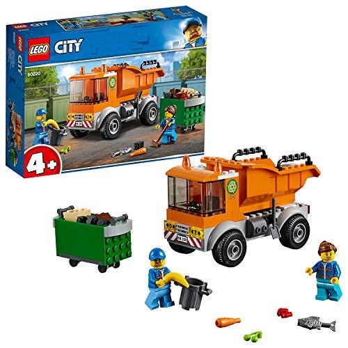 LEGO 60220 City Müllabfuhr, LKW Spielzeug mit 2 Müllarbeiter Minifiguren und Zubehör