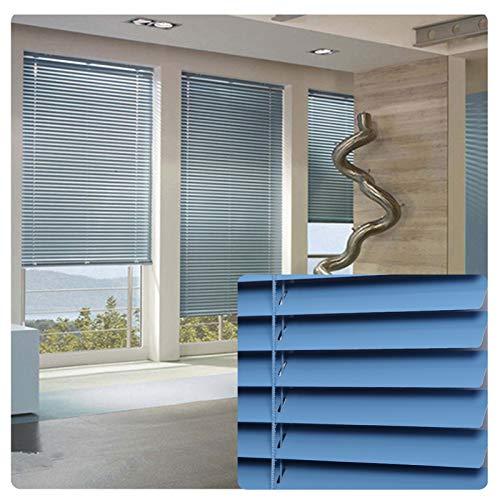 ZXD Estor veneciano impermeable, cortina de privacidad de aluminio con control de cuentas, sin perforaciones, fácil ajuste, tamaño personalizado (color: A, tamaño: 120 x 210 cm)