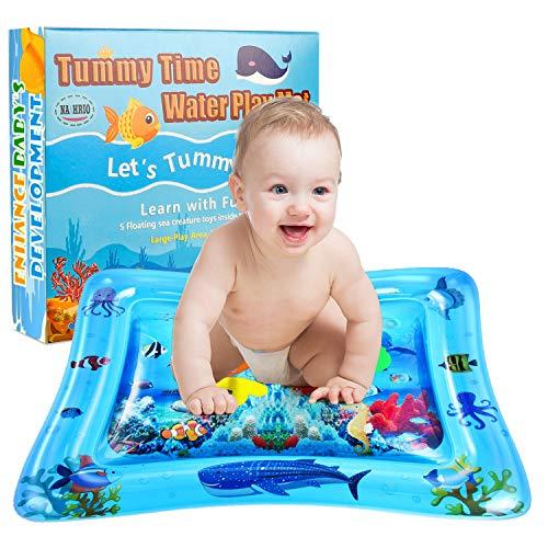 NASHRIO Wassermatte Baby, Wasserspielmatte Baby 3 6 9 Monate, Das Perfekte Lustige Spielzeug für Aktivitätszentren für die Frühe Entwicklung von Säuglingen, Fördert die Visuelle Stimulation