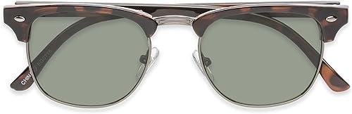 2021 Foster lowest Grant Men's Club 2021 Master Warren Semi-Rimless Polarized Sunglasses Tortoise Brown online sale