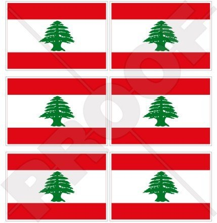 Libanon Libanesische Flagge libnan, Mitte Osten, Lubnan 40mm (40,6cm) Mobile Handy Vinyl Mini Sticker, Aufkleber X6