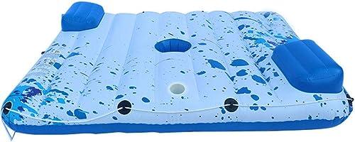 CBWZDJZDS Aufblasbares Sich Hin- Und Herbewegendes Reihen-PVC-Aufblasbares Doppeltes Wasserbett-Sich Hin- Und Herbewegende Entw erung Auf Dem Recliner-Weiß180X15cm