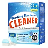 Washer Cleaner, Moduskye 1 Year Supply Washing Machine Cleaning Tablets, Unscented Fresh Deep Cleaner and Deodorizer, for Front Loader Top Load High-efficiency He Washers, 28 Tablets