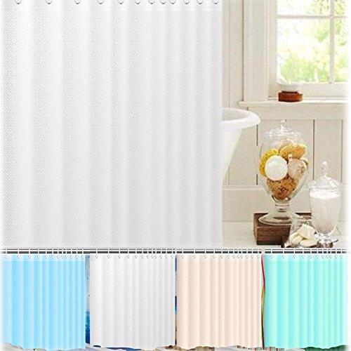 SIENOC Duschvorhang Anti-Schimmel Wasserabweisender Stoff PEVA mit 12 Duschvorhangringe für Badezimmer 180 x 200 cm (Hellgrün 1.8 * 2M (1 Stück))