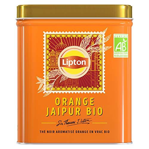 Lipton Sir Thomas Thé Noir Biologique en Vrac Orange Jaipur, Label Rainforest Alliance 150g