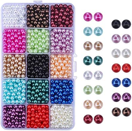 Faux Pearl Beads Luster Cheap mail order specialty store Milwaukee Mall Glossy Loose Polished Round