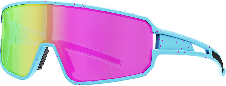 SPOSUNE Polarized Cycling Glasses for Men Women , UV400 Bike Sunglasses - Sport Eyewear for Bicycle Baseball Running MTB