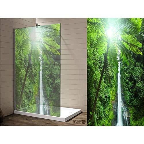 Interfoil Duschkabine verschönern, Glasduschtrennwand Aufkleber, Sichtschutz Duschabtrennung, hochwertiger Druck auf Glasdekor -Folie in Sandstrahl -Optik mit satinierten Oberfläche