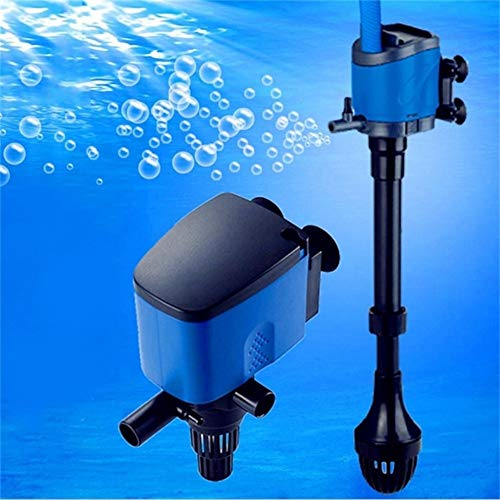 3 In 1 Multifunktions Aquarium Filtration Sauerstoffversorgung Luft Wasserpumpe Wasserzirkulationssystem for Aquarium Sauerstoffzunahme Wasserpumpe (Color : Blue, Power : ZY B1)