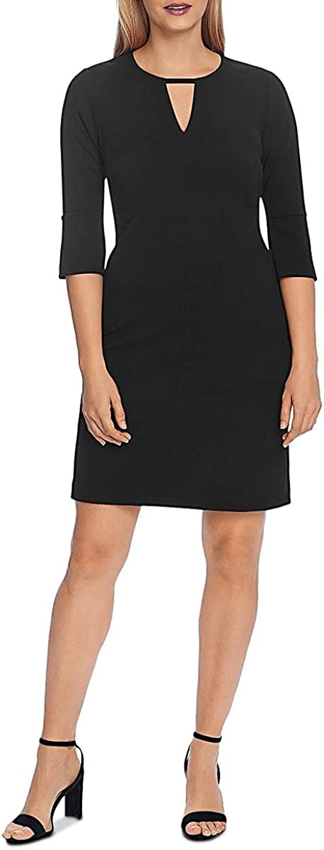 Vince Camuto Womens Crepe Flare Sleeves Wear to Work Dress