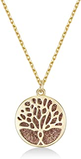 MESTIGE Women Crystal Gold Faithful Tree Necklace with Swarovski Crystals