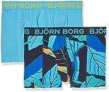 Björn Borg 2p Short Shorts BB Leaf Bóxer, Azul (Peacoat 70011), Large para Hombre