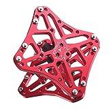 perfeclan Adaptadores de Plataforma de Pedal sin Clip para Bicicleta, Aptos para Shimano SPD-SL/SPD, Look Keo, Pedales automáticos Que se convierten en - Rojo