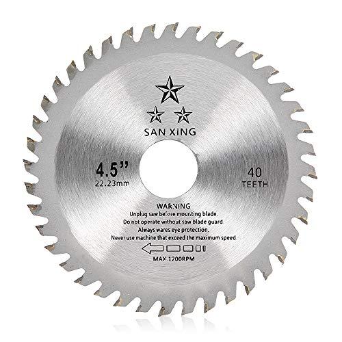 Lama per Sega Circolare per Legno,115 x 22,2mm x 40 Denti TCT,Disco per Taglio Legno per Smerigliatrice Angolare