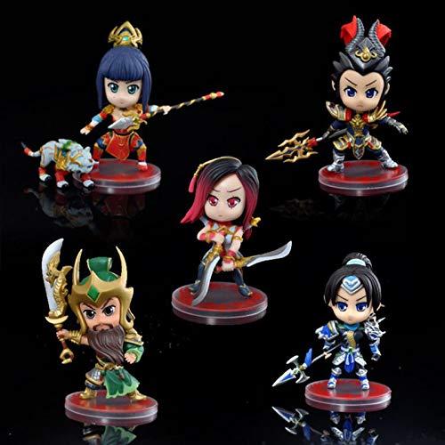 Mini Cute Anime 10Cm LOL Irelia Figur League of Legends Actionfiguren PVC-Statue Modell Hochwertige Geschenke Figuren
