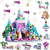 COOLJOY Classici 633012 Set di Costruzioni, 567 Pezzi Castello Giocattolo da Costruzione Castle STEM Kit di Costruzione Giocattoli Regali per di 6 7 8 9 Anni