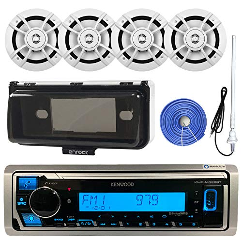 Kenwood Single DIN Marine Boat Audio Bluetooth USB Receiver W/Protective...