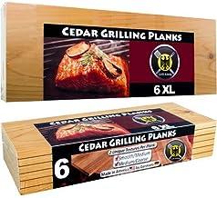 6 XL Tablas de Cedro para Barbacoa/ Tablones de Asar a la Parrilla de LONGITUD ESTÁNDAR (EXTRA GRANDES) – Paquete de 6