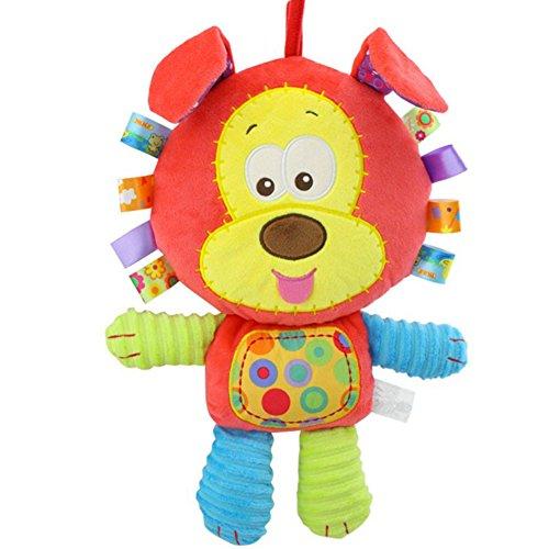 Morbuy Poupées de Couchage Bébé Appease Avec des Jouets Nouveau-nés Plush Animaux Bébé Cute Soft Peluche Activité Crib Poussette Jouets Toy Doll (Chien)