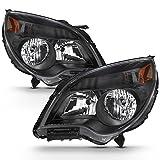 ACANII - For 2010-2015 Chevy Equinox LT/LS Halogen Black Headlights Replacement Headlamps Lamps Driver+Passenger Side