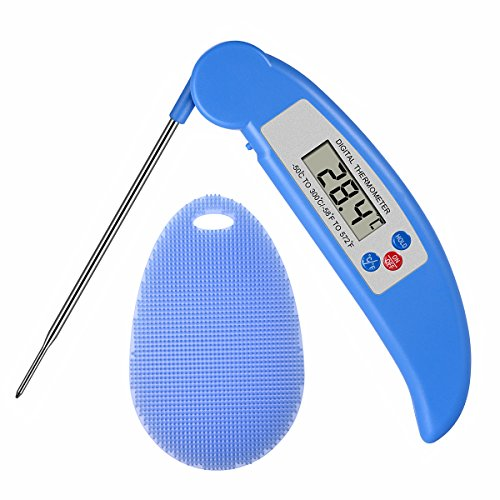 Digital Thermometer for Cooking Meat Instant Read Wireless Electronic Thermometer Cooking Food Thermometer with Probe for Grilling, Steak, Bbq, Milk, Tea, Coffee
