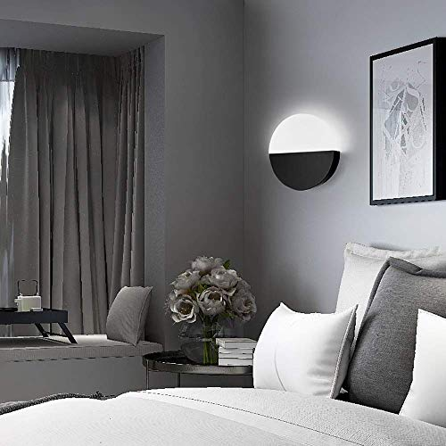 Muur Muur van de lantaarn Spotlight acryl leidde wandlamp woonkamer aan de muur Aisle Wandlamp Nordic Creative slaapkamer bedlampje warm (Kleur: Wit, Maat: Wit licht), Maat: Wit licht, Kleur: Zwart XI