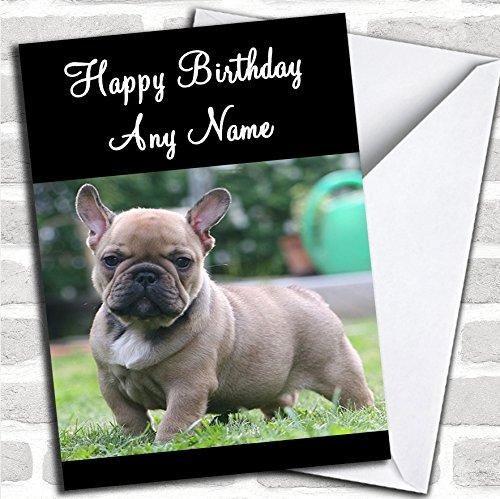 Franse Bulldog Hond Verjaardagskaart Met Envelop, Kan Volledig Gepersonaliseerd, Verzonden Snel & Gratis