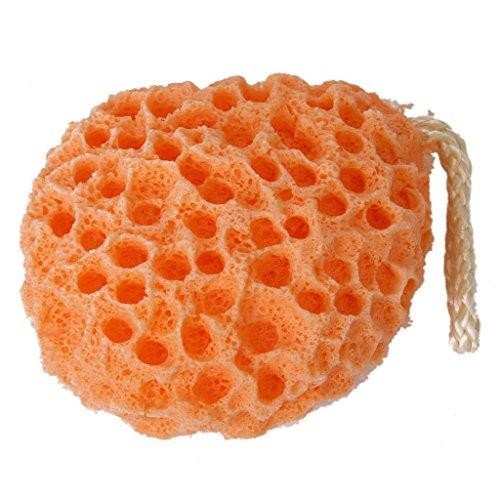 TOOGOO Eponge de Massage Gommage Douche Bain pour Enfant Femme Homme orange