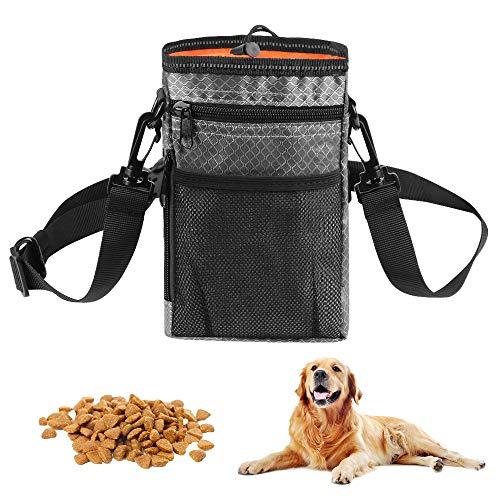 O-Kinee Bolsa de Entrenamiento para Perros, Bolsa Premios Perro, Bolso de Entrenamiento de Perro con Cinturón Ajustable para Almacenamiento de Pienso Juguetes Paras Mascotas, Naranja