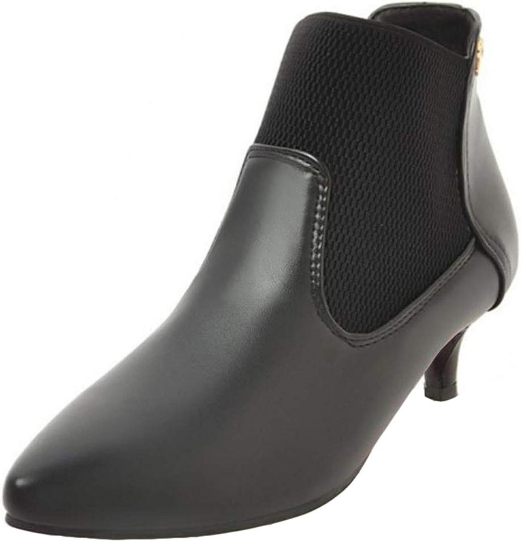 Cocey Women Kitten Heel Ankle Boots Black