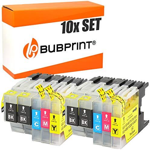 10 Bubprint Druckerpatronen kompatibel für Brother LC-1220 LC-1240 für DCP-J525W DCP-J725DW DCP-J925DW MFC-J430W MFC-J5910DW MFC-J625DW MFC-J6510DW MFC-J6710DW MFC-J6910DW MFC-J825DW Multipack