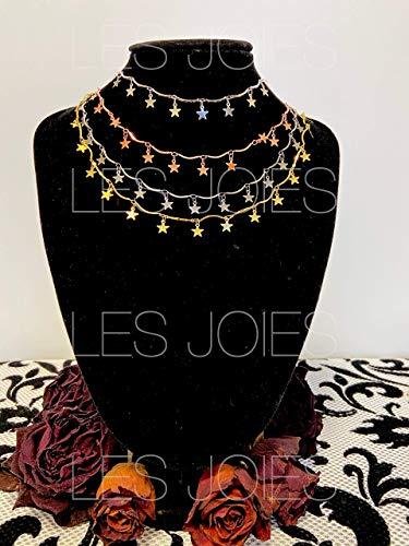 Collana in ottone con stelline pendenti